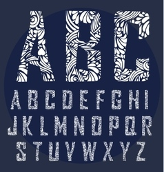 Calligraphic alphabet Design elements vector
