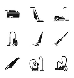 Carpet sweeper icon set simple style vector