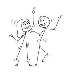 cartoon of disco dancing couple vector image