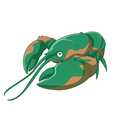 Cartoon smiling lobster vector