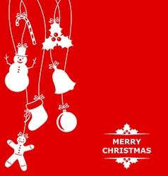 Christmas hang red vector