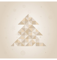 Christmas tree a triangle vector image