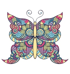 colorful butterfly on white background vector image