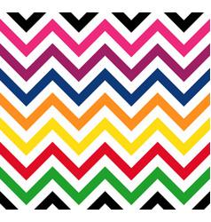 colorful rainbow chevron retro decorative pattern vector image