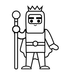 coloring book king vector image