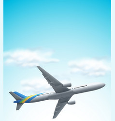 commerical airplane flying above vector image