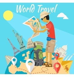 Concept world adventure travel vector