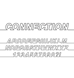 Connection One Line Font vector image