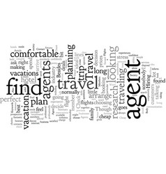 contact a travel agent about cheap flights vector image