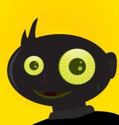 creepy boy vector image