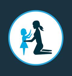 daughter icon colored symbol premium quality vector image