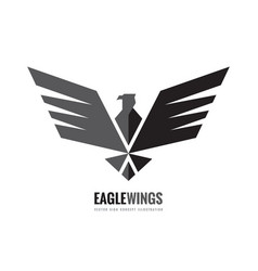 eagle wings - logo template concept vector image