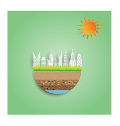 eco green city concept vector image