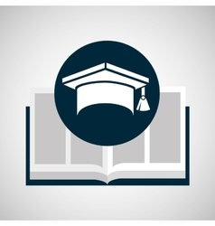 education opened book graduation cap vector image