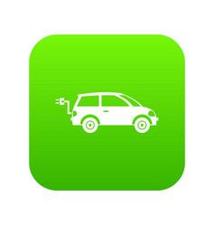 electric car icon digital green vector image
