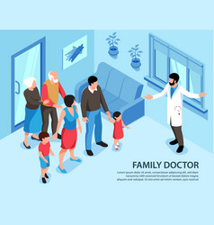 Family doctor appointment background vector
