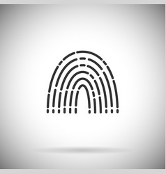 Finger print icon simple fingerprint vector