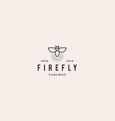 Firefly logo hipster retro vintage icon design vector