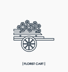 Florist cart icon vector