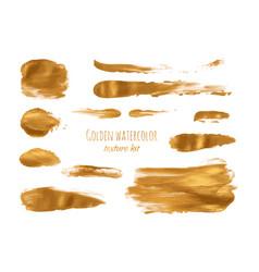 Golden hand paint ink texture background vector