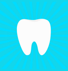 Healthy white tooth icon oral dental hygiene vector