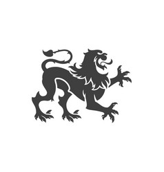 heraldic lion isolated on white background vector image