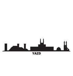 Iran yazd city skyline isolated vector