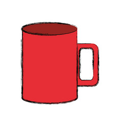 isolated coffee cup vector image