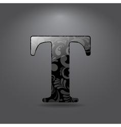Letter T vector