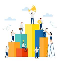 market peak business success vector image