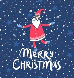 Merry Christmas Santa Claus greetings vector image