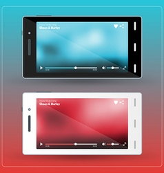 Modern smartphone with video player on the screen vector