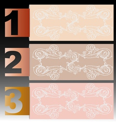 Number of Retro Banner vector image