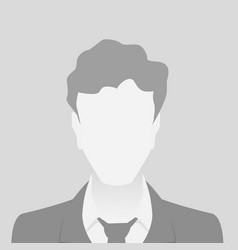 person gray photo placeholder man vector image