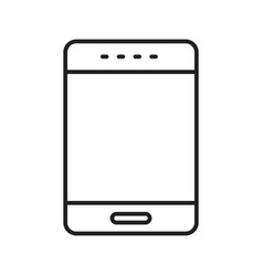 phone line black icon vector image