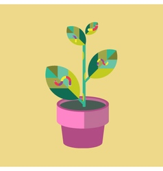 Potted-plant-and-Worm-Icon vector