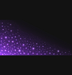 Purple glitter sparkles and glowing luminous vector