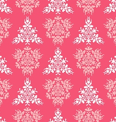Seamless coral textile pattern vector