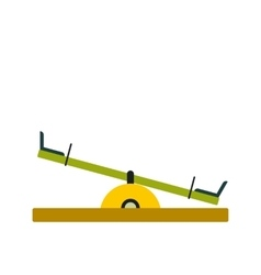 Seesaw icon flat vector