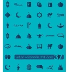 Set of ramadan icons vector image