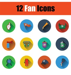 Set of twelve soccer icons vector image