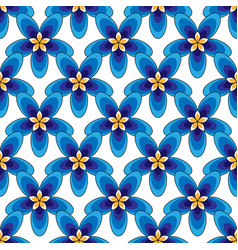 simply blue flowers pattern vector image