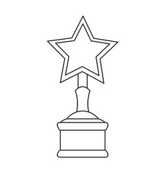 Star shape trophy icon image vector