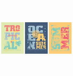 summer graphics templates for tee shirts vector image