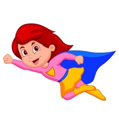 Super girl cartoon vector image