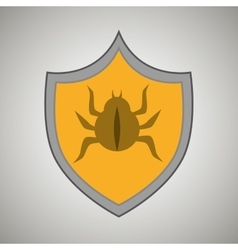 Symbol virus warning alert vector