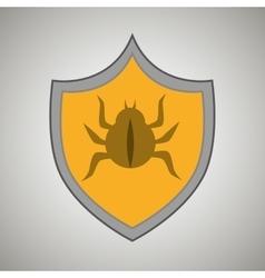 Symbol virus warning alert vector
