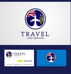 Travel south georgia creative circle flag logo vector