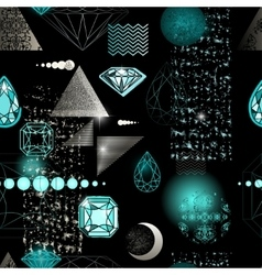 Trendy modern seamless pattern with abstract vector image