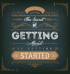 Vintage calligraphic motivation quote poster vector